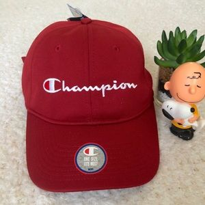 Champion Dark Red Baseball Cap Hat OSFA New Tag